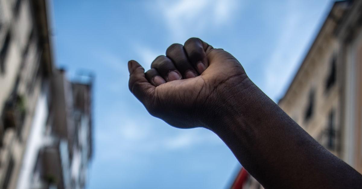 A raised fist in Miami