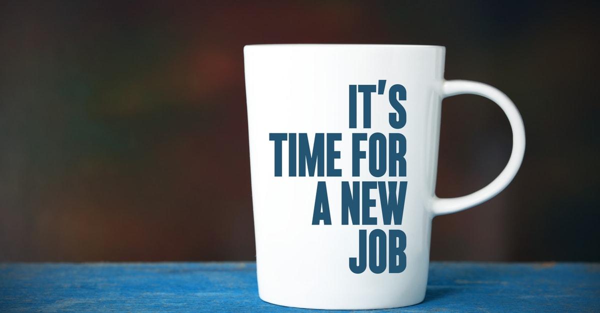 Es hora de un nuevo trabajo, concepto de negocios