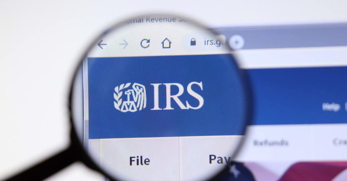 IRS website page. Irs.gov logo on display screen, Illustrative Editorial. gastos deducibles irs