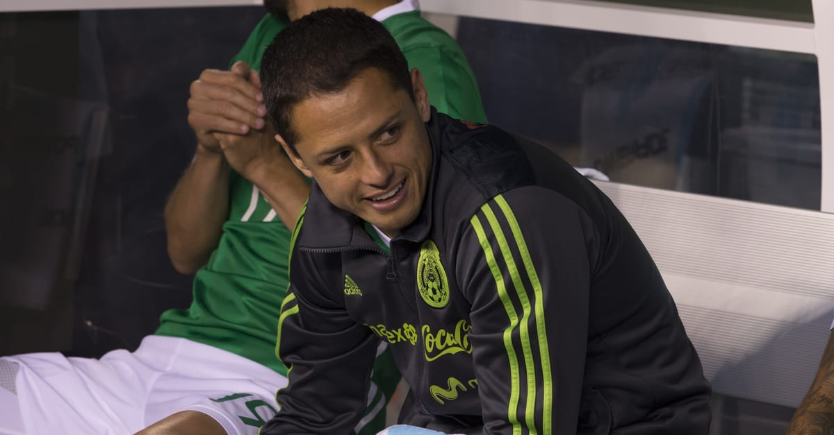 Javier Hernandez Chicharito (14) of Mexico sits on bench during friendly game