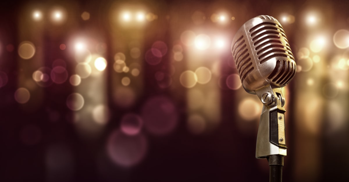 A microphone used by a singer