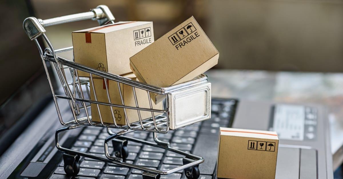 Conceptos sobre compras en línea dinero