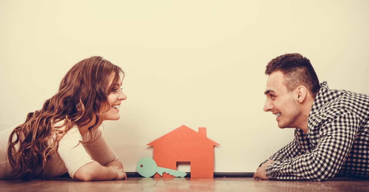 real estate, family and couple concept