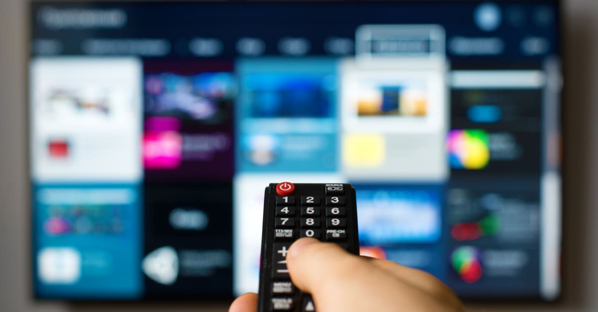 A smart tv control pointing to HBO