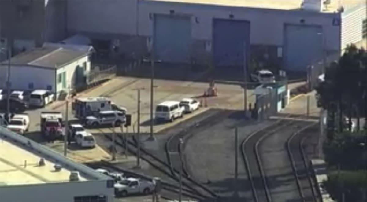 La escena después del tiroteo en San José, California, el 26 de mayo del 2021.