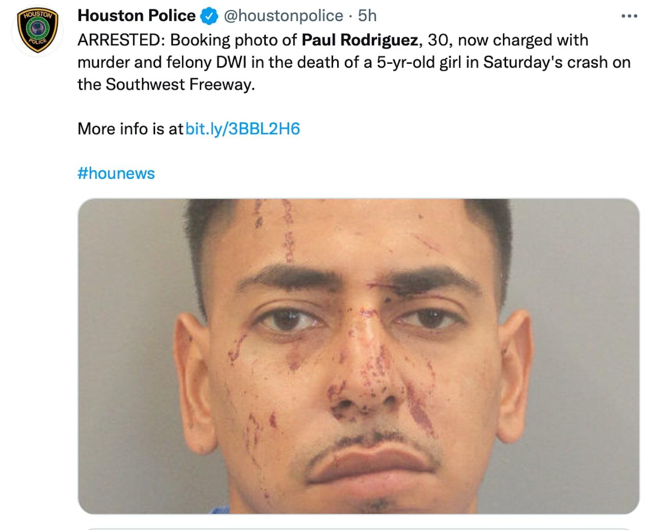 Paul Rodríguez chocó contra un camión, pero no se detuvo