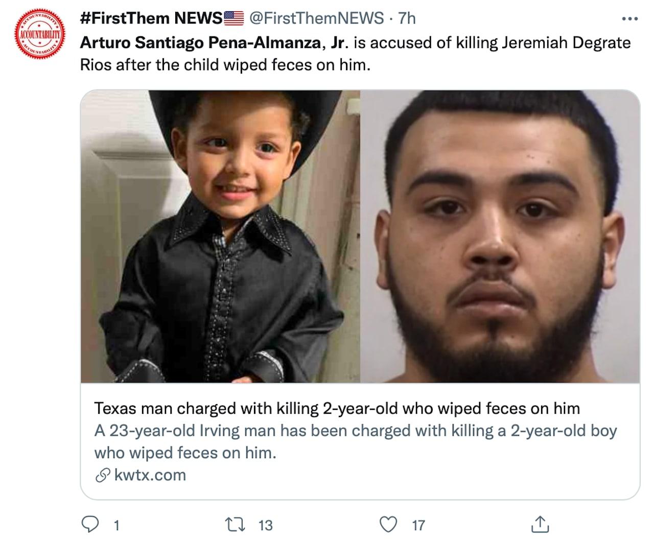 El hombre admite haber golpeado al niño varias veces