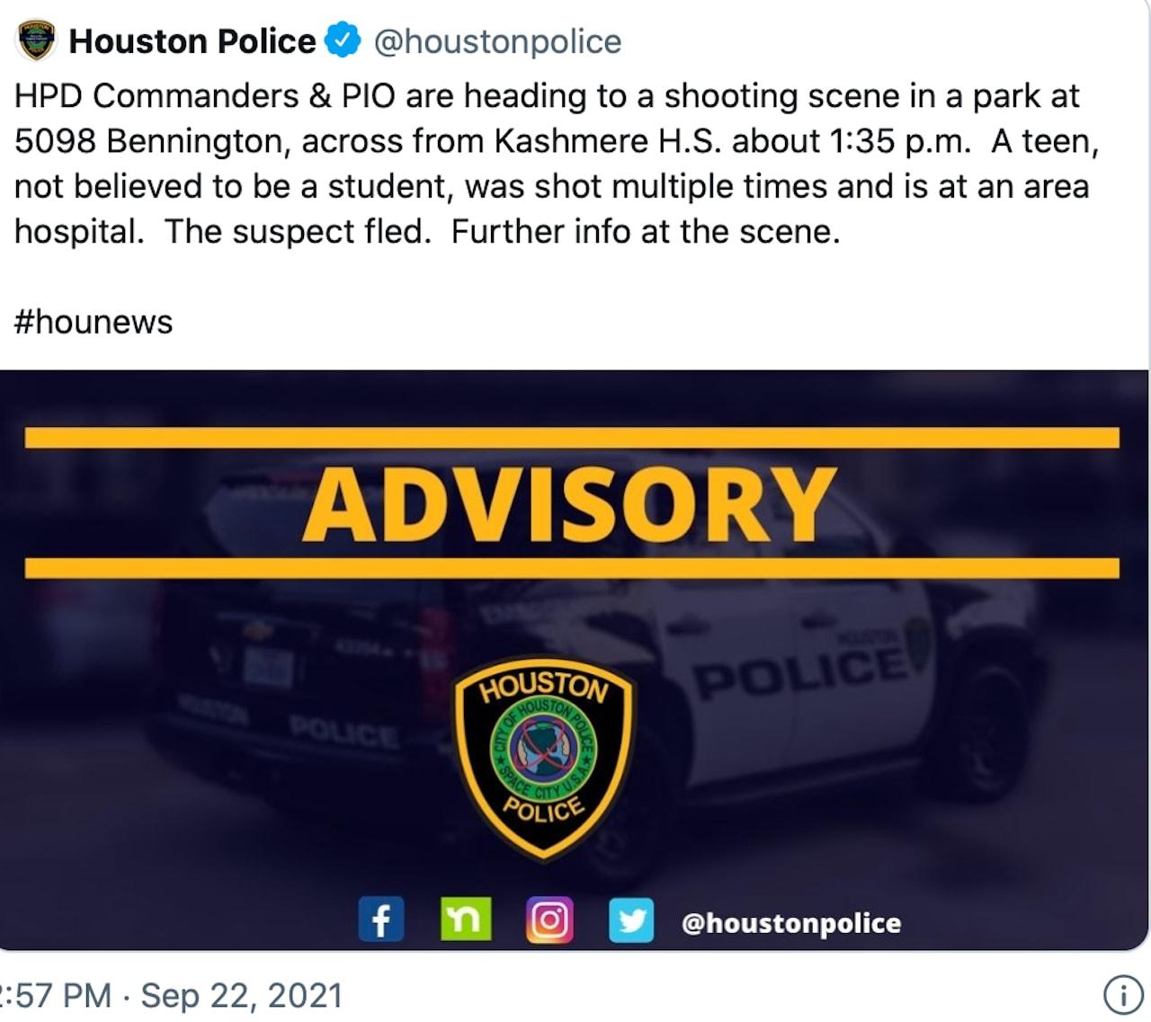 El muchacho herido fue llevado de emergencia a un hospital