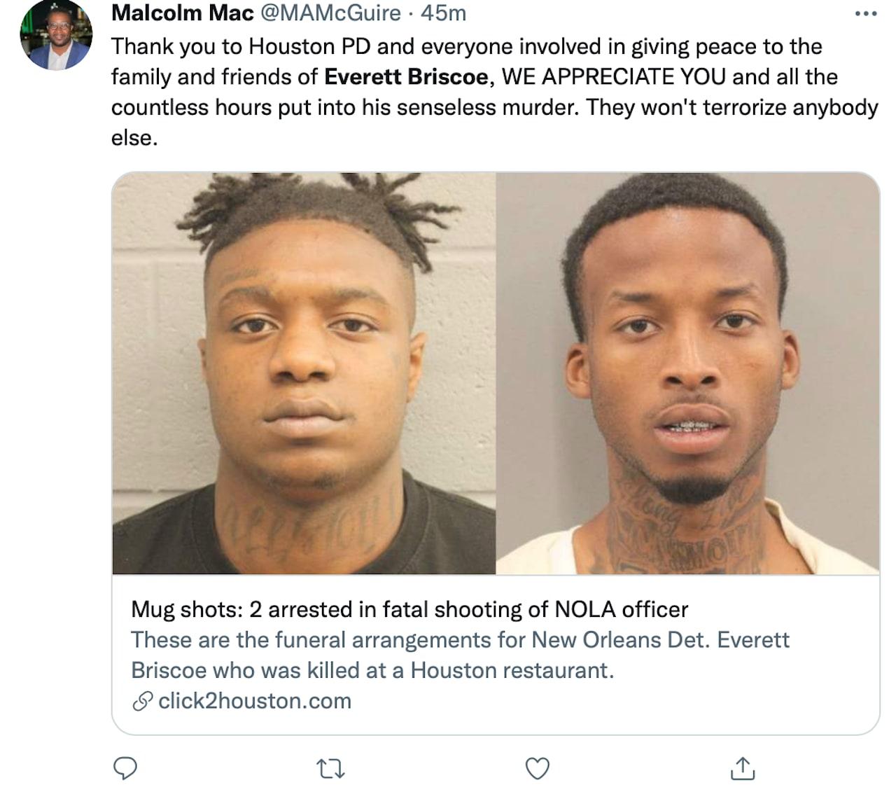 A third suspect is still on the run