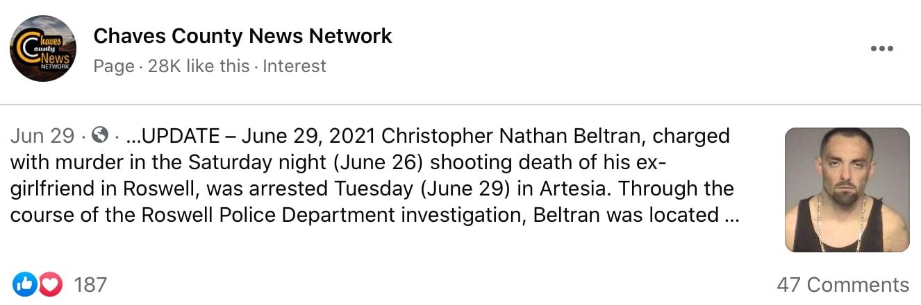 Christopher Nathan enfrenta varios cargos graves en Nuevo México