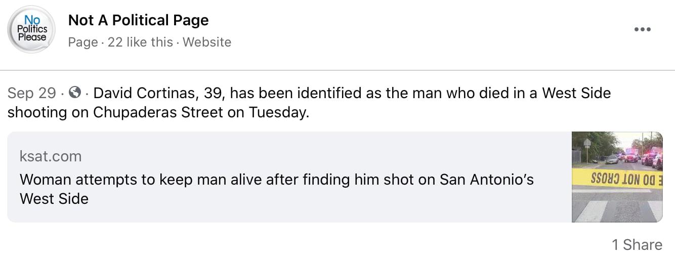 David Cortinas, una víctima más por las armas de fuego