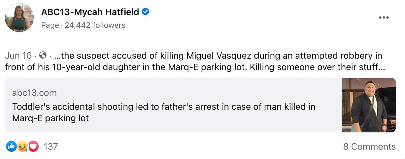 El hispano fue asesinado al ser asaltado