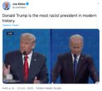 """Resurge tuit de Trump llamando criminales a hispanos tras afirmar ser el """"menos racista"""""""