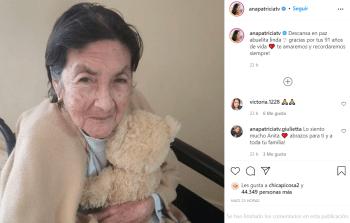 Despide a su abuelita; Ana Patricia de luto tras lamentable muerte de un ser querido