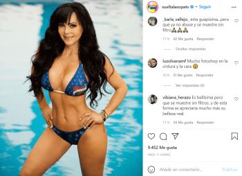 Le dicen que abusa de los filtros; Maribel Guardia celebra sus 7 millones de seguidores con increíble fotografía en bikini