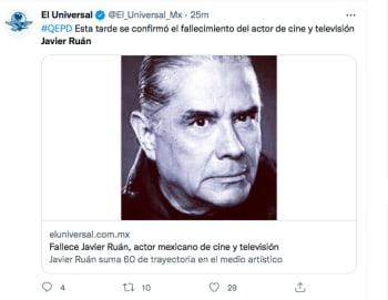 Javier Ruán muere