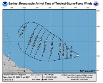 Tormenta 18 podría convertirse en el huracán Sam este fin de semana