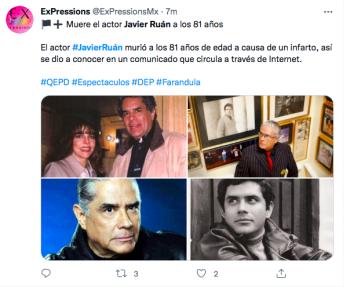 Javier Ruán dies, soap opera actor