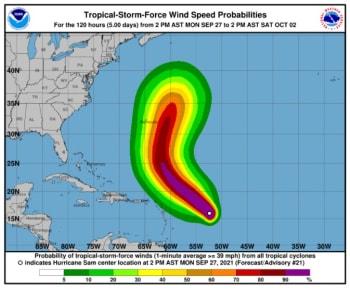 """Huracán Sam podría provocar un """"oleaje potencialmente mortal"""" a lo largo de la Costa Este"""