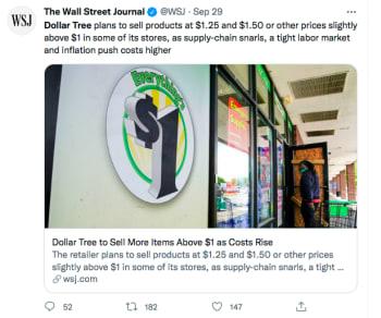 Aumentan precios tiendas Dollar Tree
