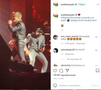 Alejandro Fernández llora en pleno concierto en Chicago por la salud de su padre Vicente Fernández