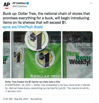 Ya no será sólo a un dólar Dollar Tree