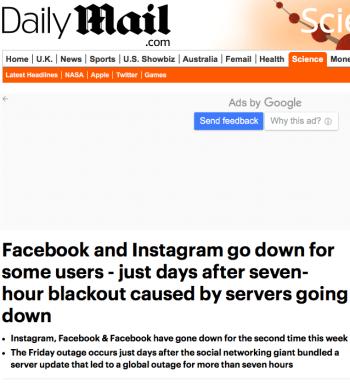 Caída en Facebook, Instagram y Messenger