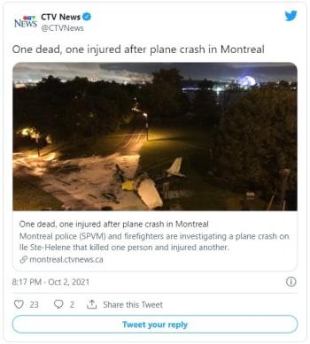 """la Junta de Seguridad en el Transporte de Canadá, estaban colocando un cartel que decía """"¿Quieres casarte conmigo?"""" cuando el avión se precipitó a tierra"""