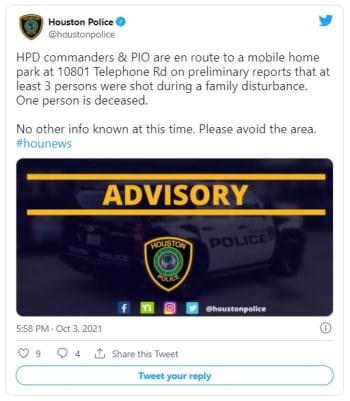 Se desata tiroteo entre vecinos que deja 1 muerto y 3 heridos en Houston