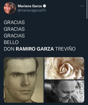 Se unen a la pena; Se da a conocer la muerte del periodista Ramiro Garza, padre de la actriz Ana Silvia y abuelo de una ex Timbiriche