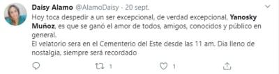 Causas muerte Yanosky Muñoz