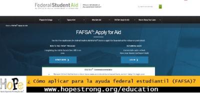 FAFSA; ¿Cómo aplicar?