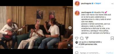 Paulina Goto muerte abuelo Pilo (Instagram)