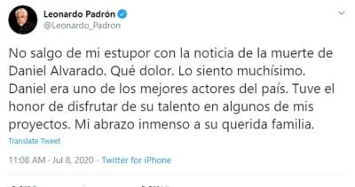 Daniel Alvarado, actor y cantante venezolano, muere en un accidente en casa