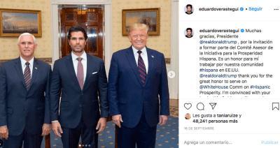 Eduardo Verástegui junto a Trump, no esperaba derrota por parte de Biden (IG)