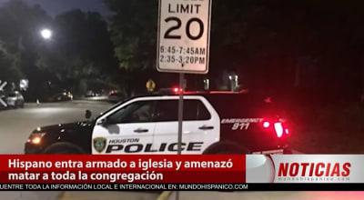 Hispano armado amenaza a feligreses en una iglesia