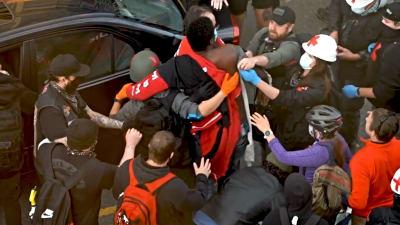 arrolló baleó protesta Floyd