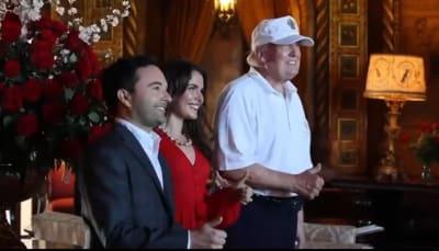 Trump sorprende pareja Mar-a-Lago, video