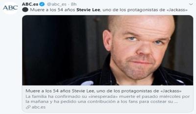 Muere Stevie Lee