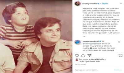 El mismo día que Raúl González anuncia la muerte de su papá, Karla Martínez pide a sus seguidores que sonrían