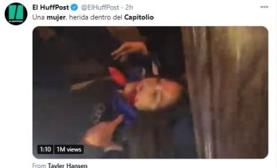 Tuit Trump Caos Capitolio