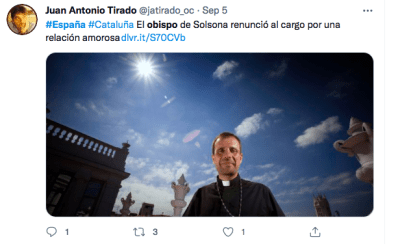 Bishop Spain leaves with erotic novels writer and resigns