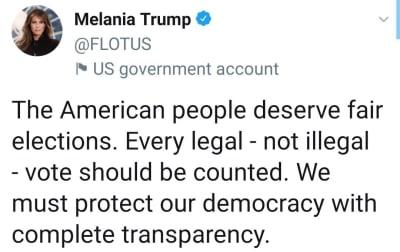 Melania mensaje tras elecciones Donald Trump elecciones