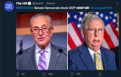 demócratas bloquean ayuda coronavirus