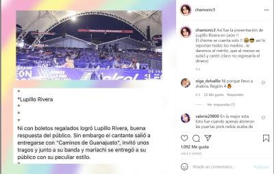 Asisten pocas personas al concierto de Lupillo Rivera