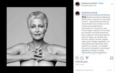 Daniela Romo Cáncer Mama Desnuda