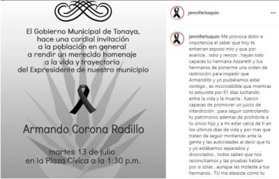 """""""Te amaremos y extrañaremos por siempre"""", le dice la actriz de Televisa a su esposo"""