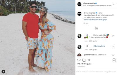 Rumores de una separación entre Chyno Miranda y su esposa Natasha Araos
