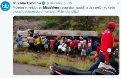 Muertos explosión Colombia