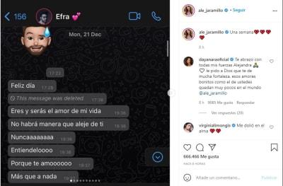 Novia Efraín Ruales mensajes, Alejandra Jaramillo